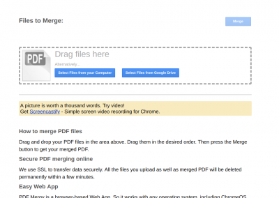 PDF Mergy – A tool for printing multiple student artifacts from Google Classroom