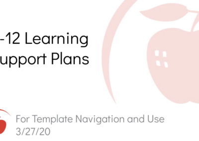K-12 Learning Support Plans