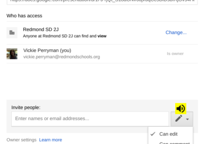 Sharing Permissions in Google Drive